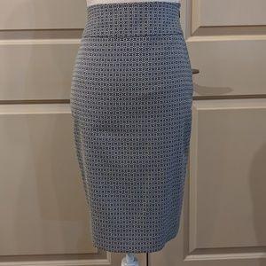 Blue & white geo print skirt - CA027
